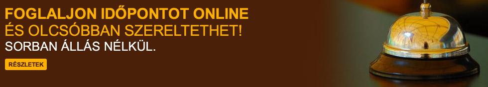 Online időpontfoglalás